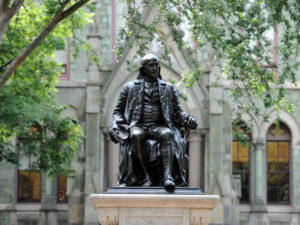 Benjamin Franklin and College Hall